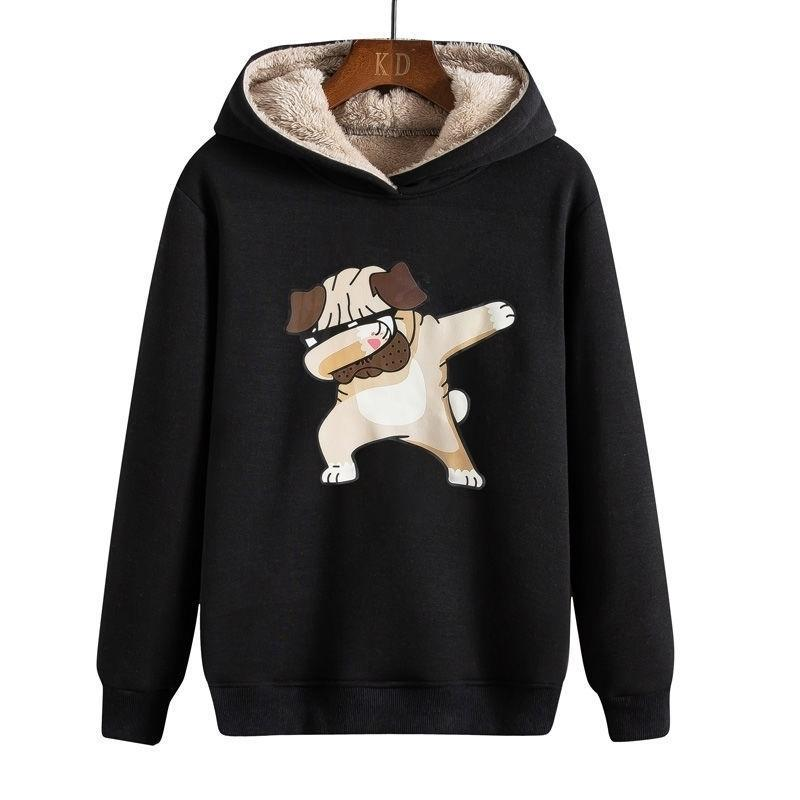 Homme d'hiver Sweatweewear Streetwear Polaire à hip-hop style de personnages chinois Peluche et coton pour animaux de chaleur Imprimer Y201123