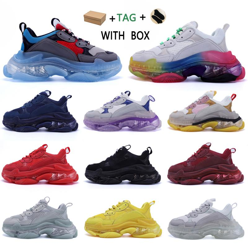 2020 Designer Triple S  Shoes Clear Bubble Midsole Men Triple-S Sneakers Increasing Leather Dad donne felpa  uomini scarpe da uomo balenciaga balenciaca balanciaga