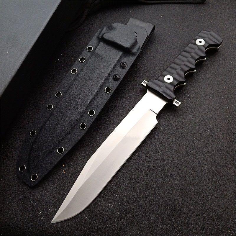 Новое на открытом воздухе выживание тактический прямой нож DC53 атласный клинок полный тан черный G10 ручка с фиксированным лезвием ножи с Kydex