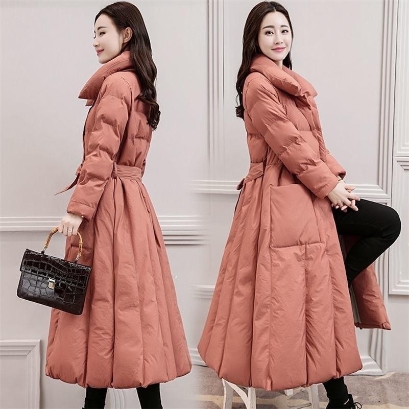 Aşağı Pamuk Yastıklı Ceket Kaban Kadın Uzun Parkas Mujer Kalın Kış Ceket Kadınlar Sıcak Artı Boyutu Ceketler Palto 3XL C5700 201201
