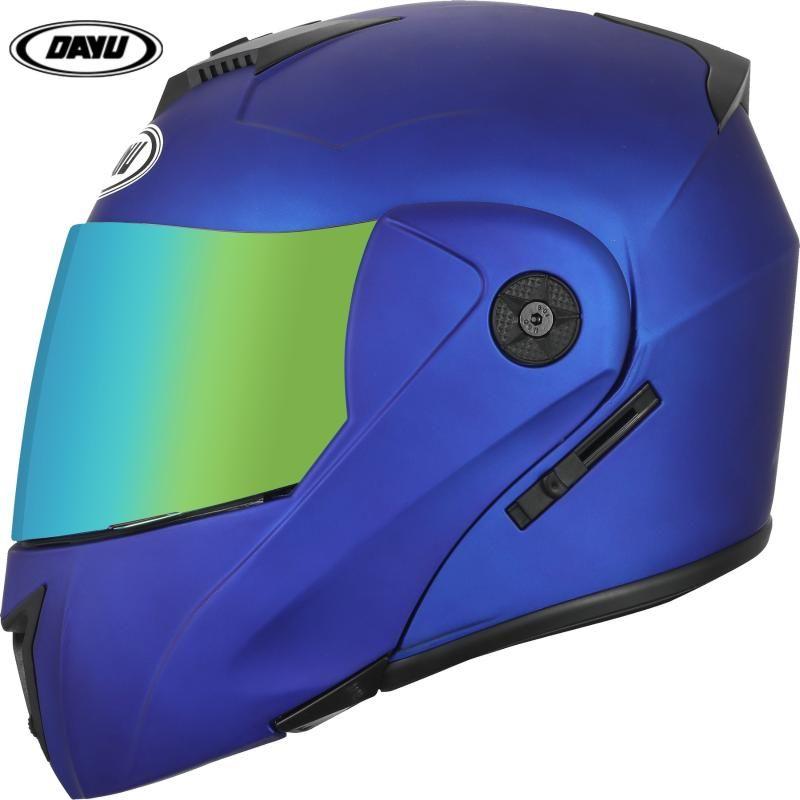 2021 Flip Up Modular Dual Lens Racing Motorcycle Helmets DOT ABS Motocross Helmet Full Face Cascos Moto Safe Helm capacete
