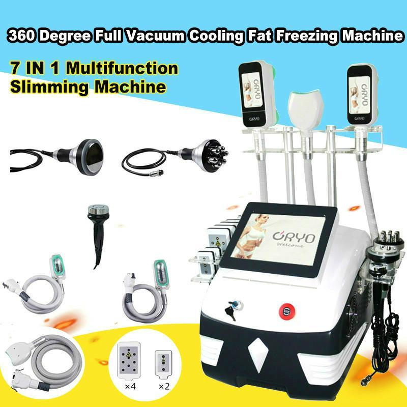 360 Cryolipolysis Máquina de congelación de grasa Cuerpo Adelgazante Lipolaser Cavitación RF Facial RF Cryolipolysis La eliminación de celulitis con 3 asas Cryo