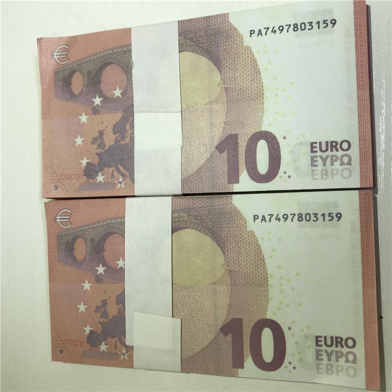 Haute qualité Simulation de billets de banque de billets de banque d'euro non marqués Simulation 20 50 euros argent réel faux accessoires de billets E20