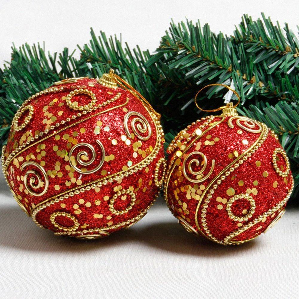 1Pc Glitter 10cm Snowflake Bubble Christmas Ball Christmas Scene Arrangement Pendant Tree Ball Party Home Decorations 1BVV#
