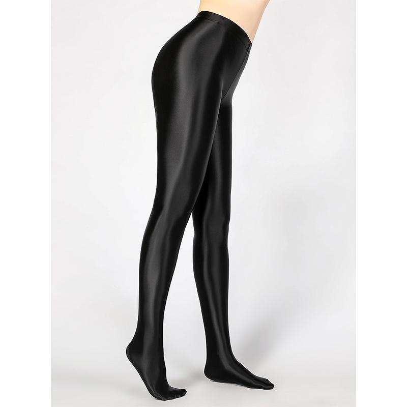 Yoga Outfits Pantyhose Shiny High Waist Tights Sexy Stockings Pants Training Women Sports Leggings Fitness