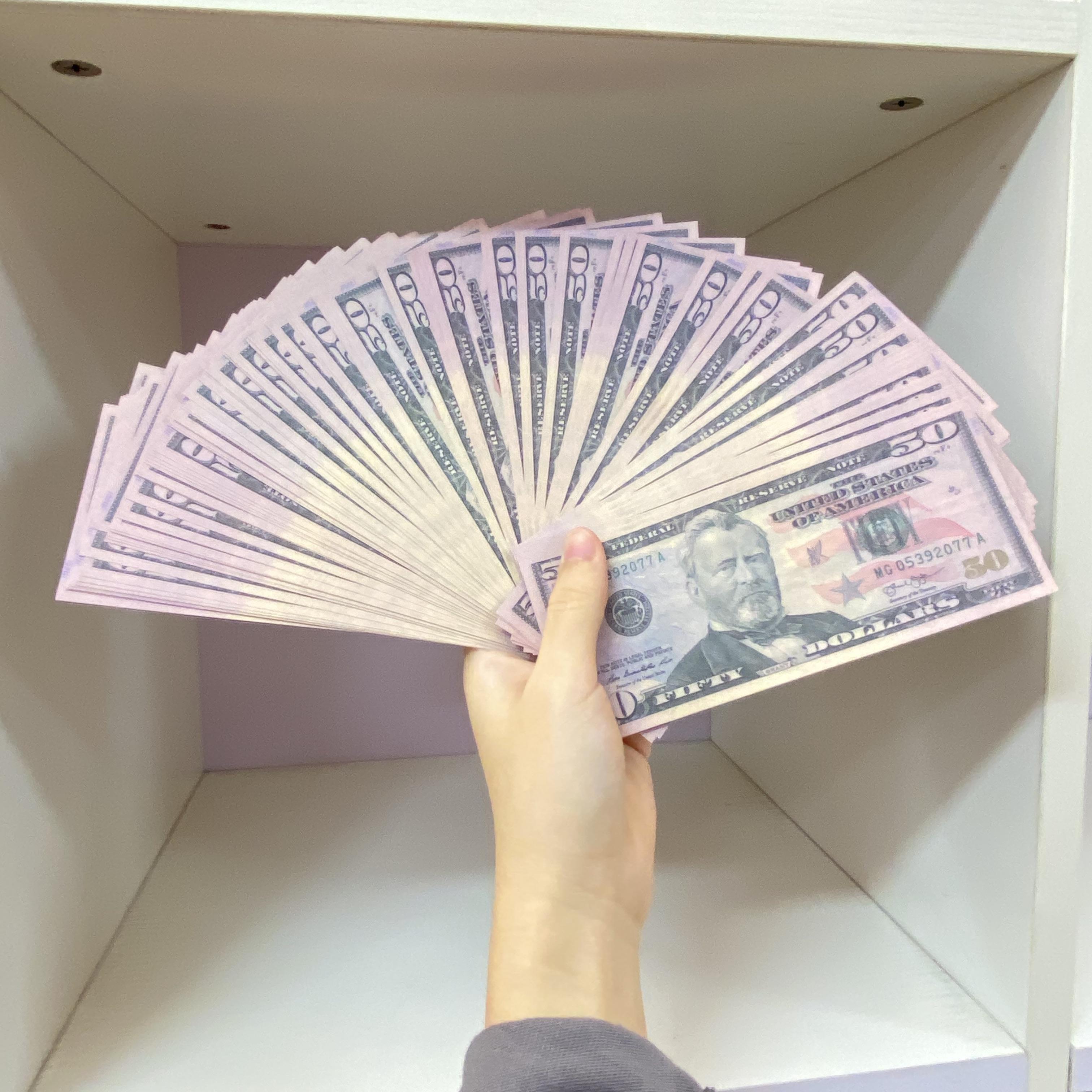 Oyunların Para Birimi Çocuk ABD Partisi Doları Oyuncaklar ABD AOTJW AA2 Banknotlar 100 Sahte Adet / Paket Hızlı Teslimat Etib