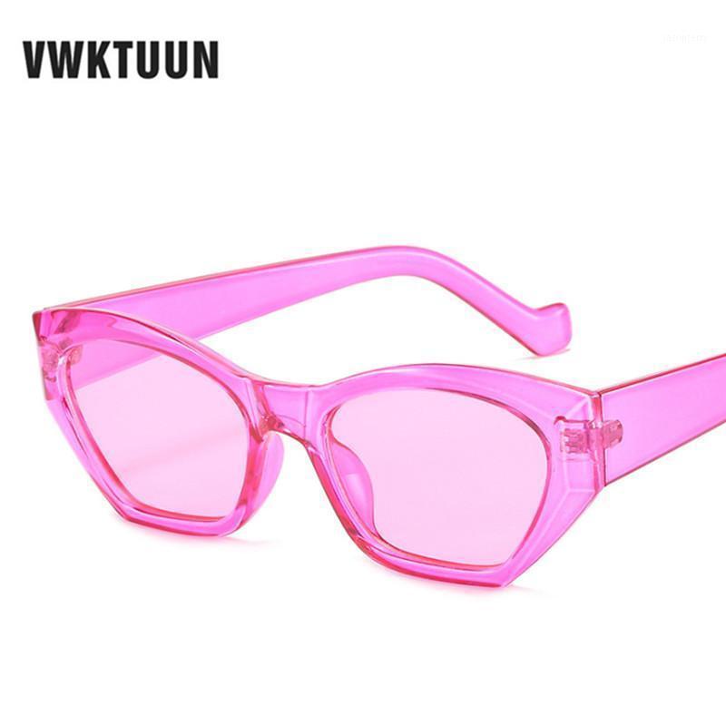Солнцезащитные очки Vwktuun старинные женщины кошка очки глаз геометрическое солнце для маленьких солнцезащитных очков красочные езды за рулем1