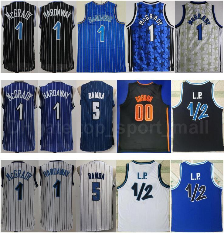 Baloncesto Mohamed Bamba Jersey 5 Tracy McGrady Penny Hada Hada 1 LP Penny Anefernee Vintage cosido Team Negro Azul Blanco Alta Calidad