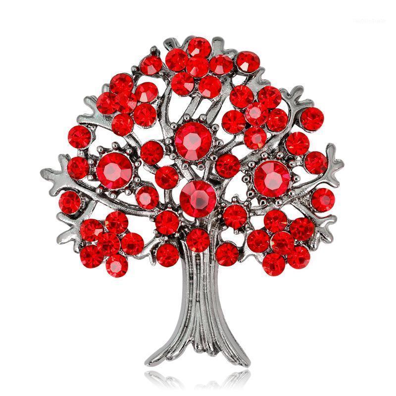 Nuovi arrivi vintage spille a forma di albero forma di cristallo resina spille per ragazze donne gioielli partito regali1