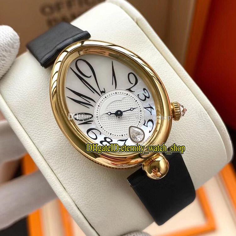 L8F Melhor Versão 18K Gold 316L Caso de Aço Pérola Discagem 8918BA / 58/964 / D00D CAL.537 / 3 Mecânica automática Womens-WATC 8918 Ladies-Relógios