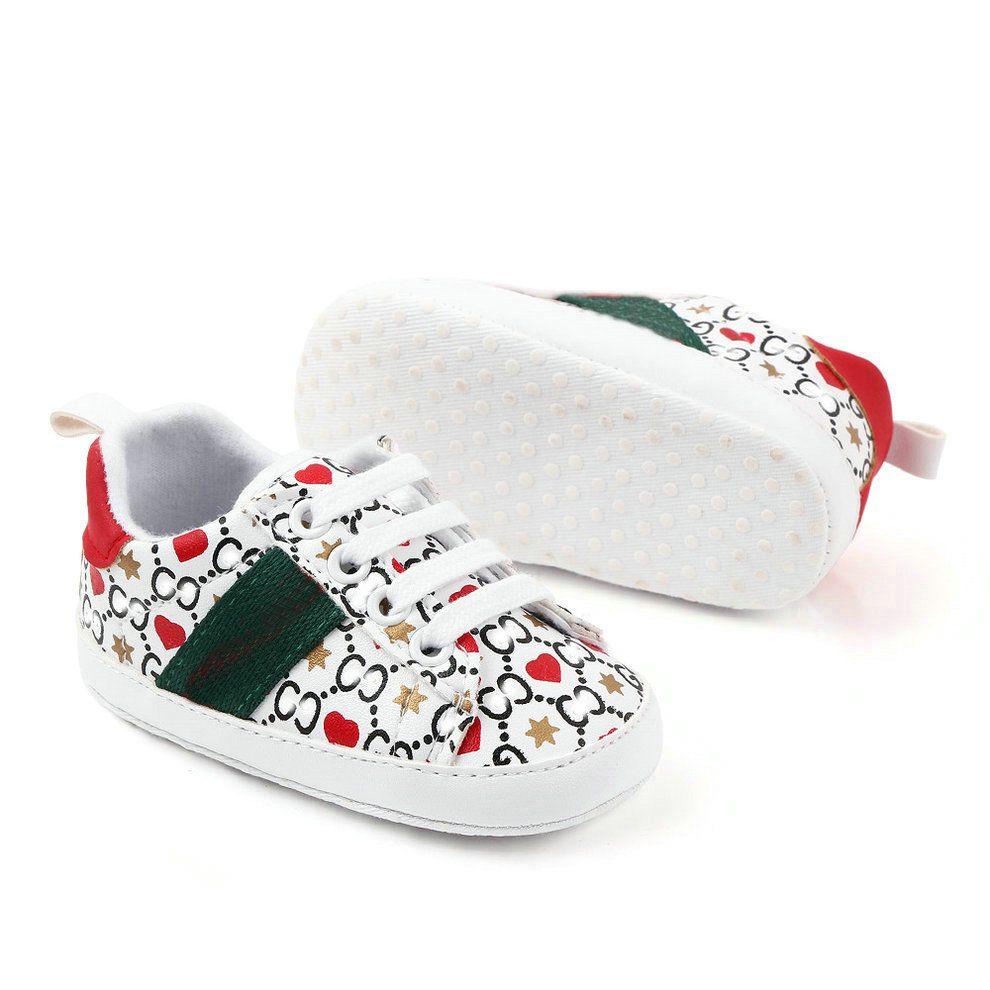 Chaussures bébé Automne Printemps Nouveau-né Garçons Filles First Walkers Enfants Enfants En Toddlers Baskets PU 0-18 Mois