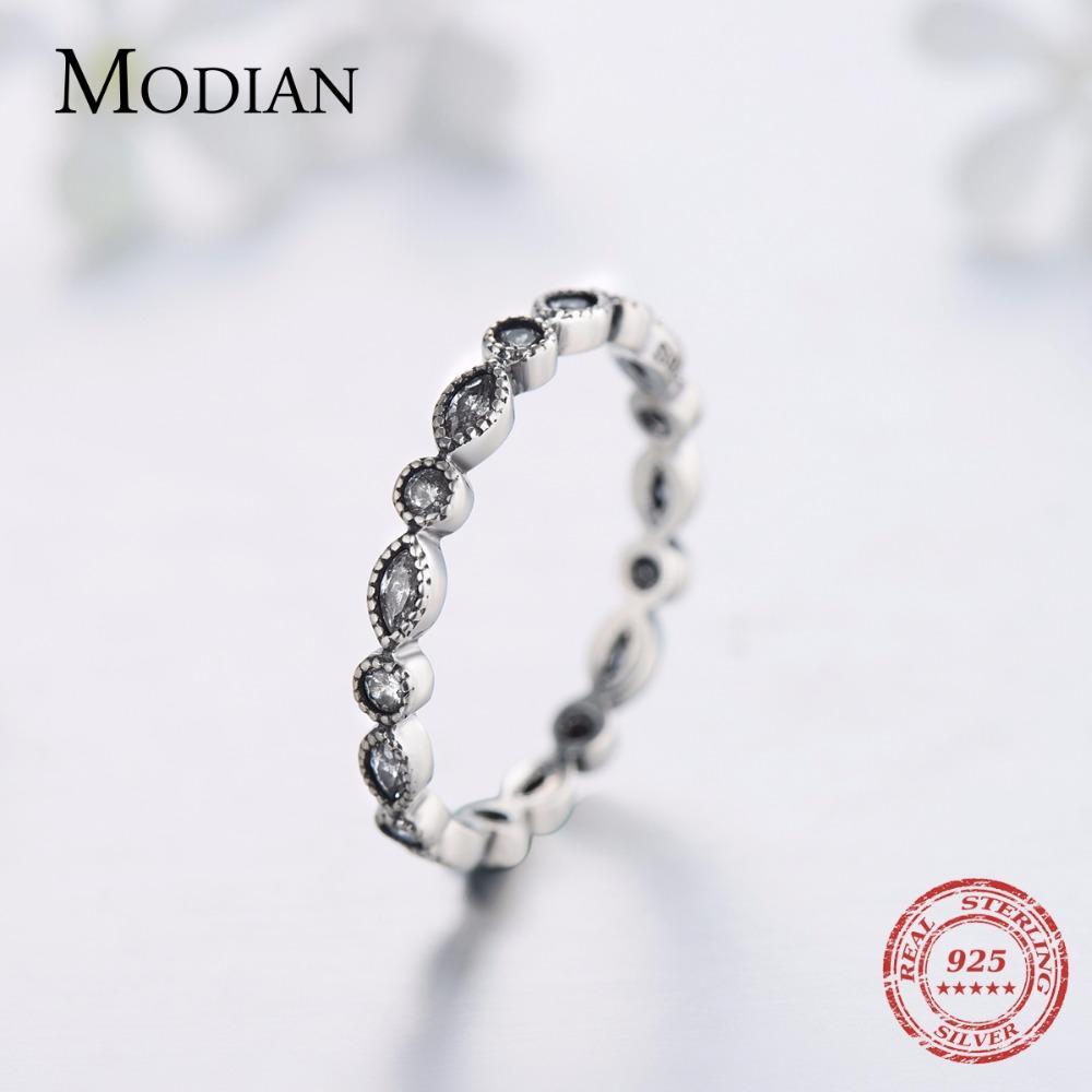 Modiand autentico 925 sterling sterling anelli frizzanti per donne cz gioielli anelli dita anelli di fidanzamento anelli di fidanzamento bague accessori moda moda de