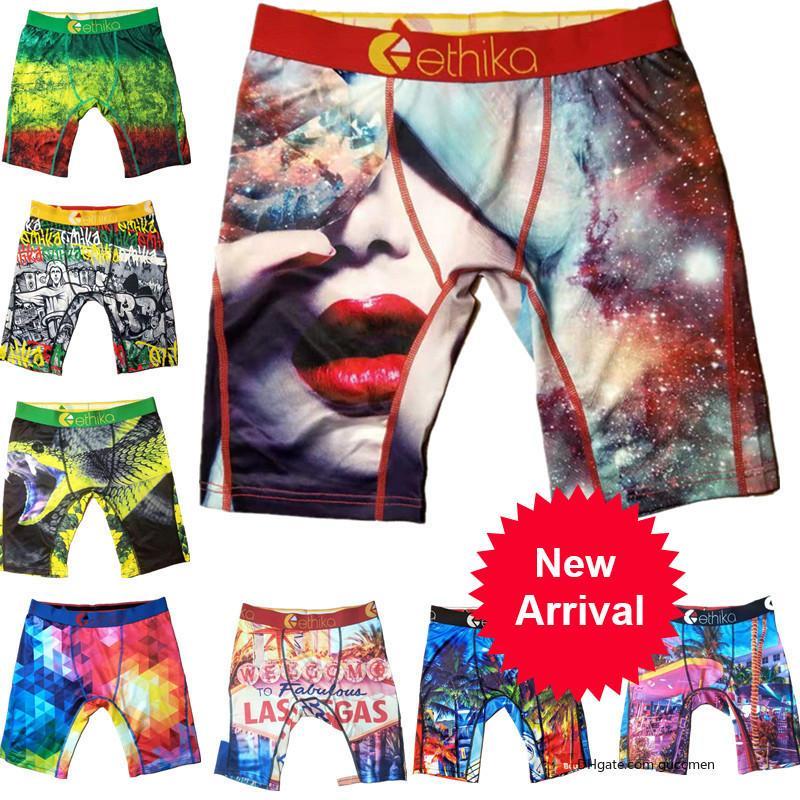 Underwear Homens Mulheres Ethika Esporte Boxer Técnico Quick Dry Graffiti Imprimir Marca Shorts Leggings Praia Trunks Calças u2 ABDDA