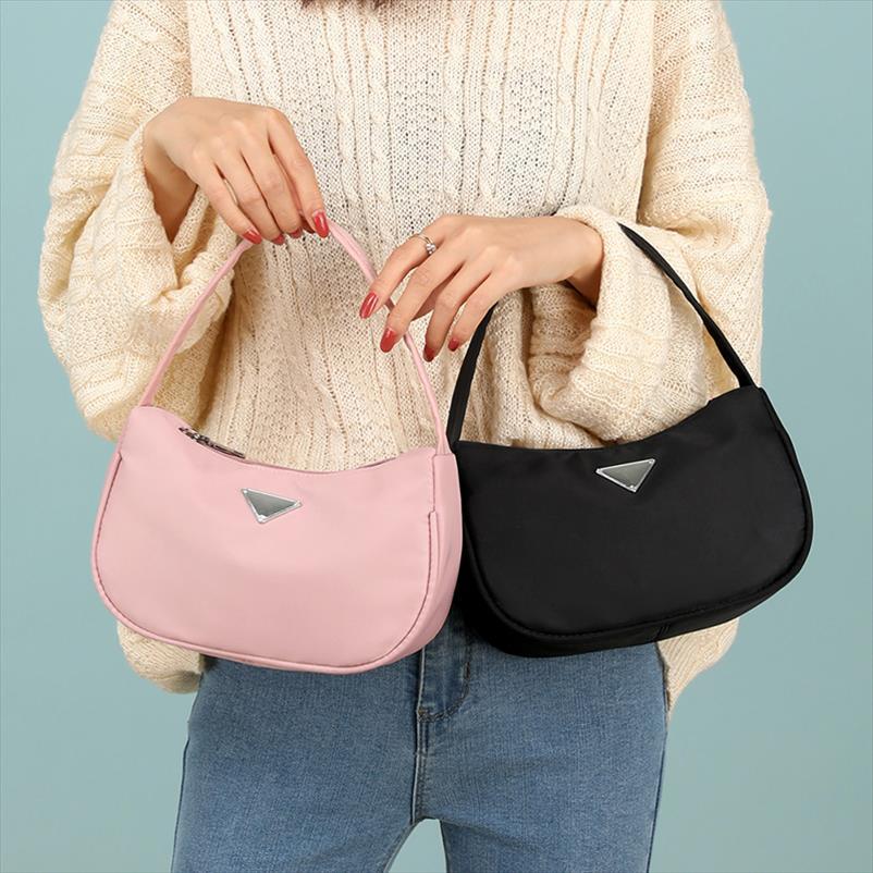 Modische Weinlese-Art und Weise beiläufige Mini Schultertasche Nylon-Handtasche Female für Frauen Marke Kleine Clutch
