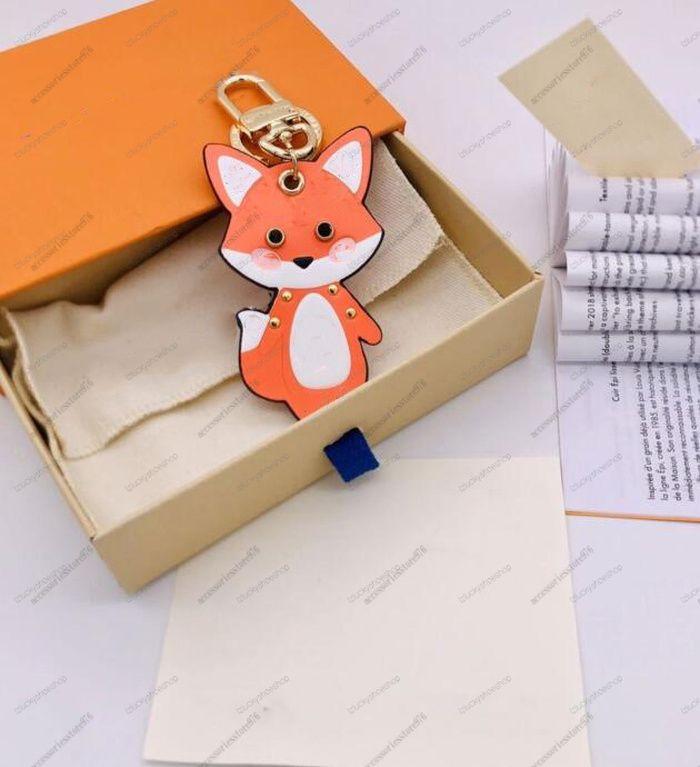 حيوان فوكس الحلي الأزياء مفتاح مشبك محفظة قلادة أكياس تصميم سلاسل مفتاح مشبك المفاتيح إلكتروني أعلى جودة المرأة حقيبة الملحقات