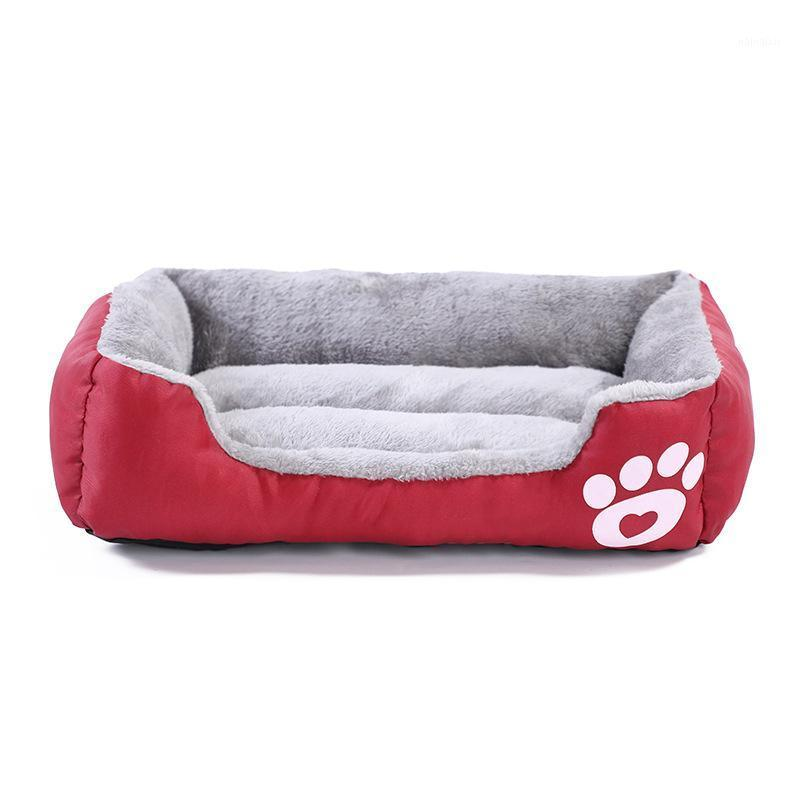 S-2XL 8 Renkler Köpekler Için Pet Köpek Yatağı, Köpek Yatak Makinesi Ile Yıkanabilir Su Geçirmez Alt Yumuşak Polar Sıcak Kedi Evi1
