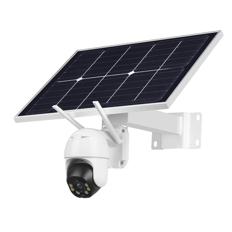 1080P IP Camera WIFI 8W Solar Panel Battery Security Camera Color Night Vision Human Detected Outdoor PTZ CCTV