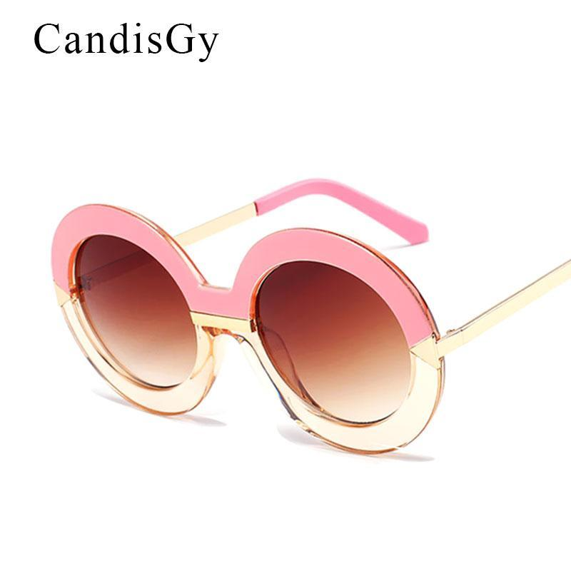 Übergroße große große große vintage runde spiegel sonnenbrille steigung rahmen frauen uv400 sonnenbrille retro elegant stil