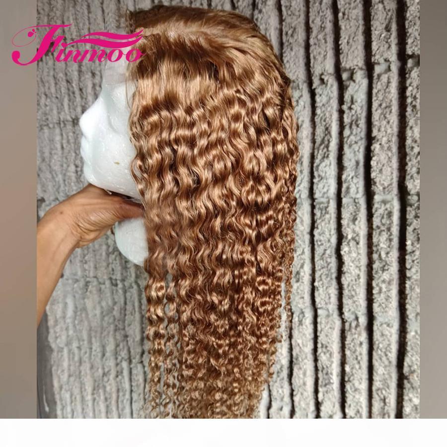 Ombre wasser welle spitze front menschliche haarperücken vorgepftet farbig honig blonde 613 spitze frontperücken brasilianische remy haare 150 dichte