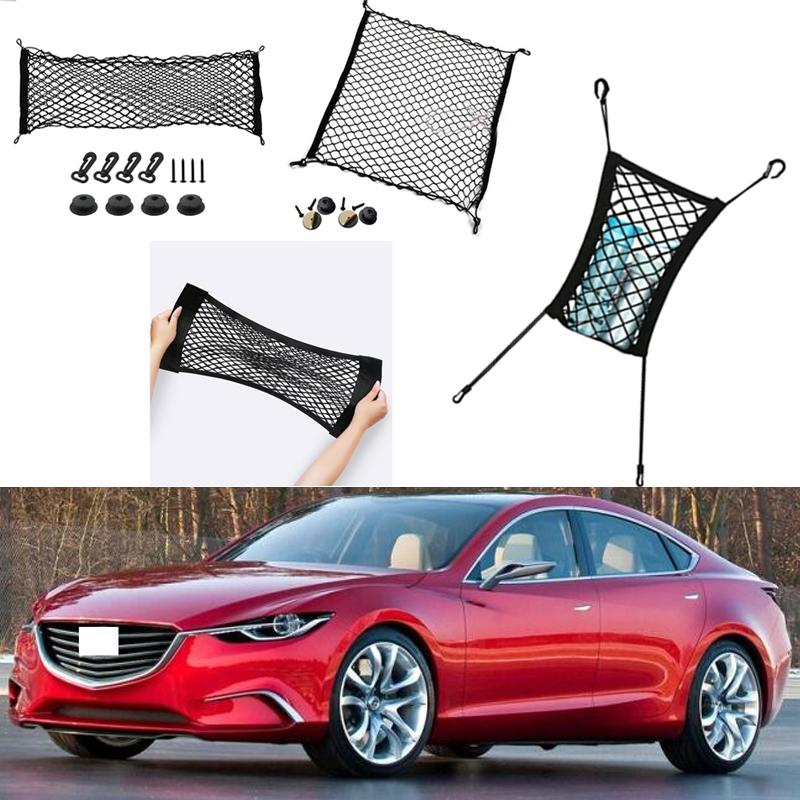 ل Mazda Takeri سيارة السيارات سيارة سوداء الخلفية جذع البضائع الأمتعة المنظم التخزين نايلون عادي مقعد مقعد