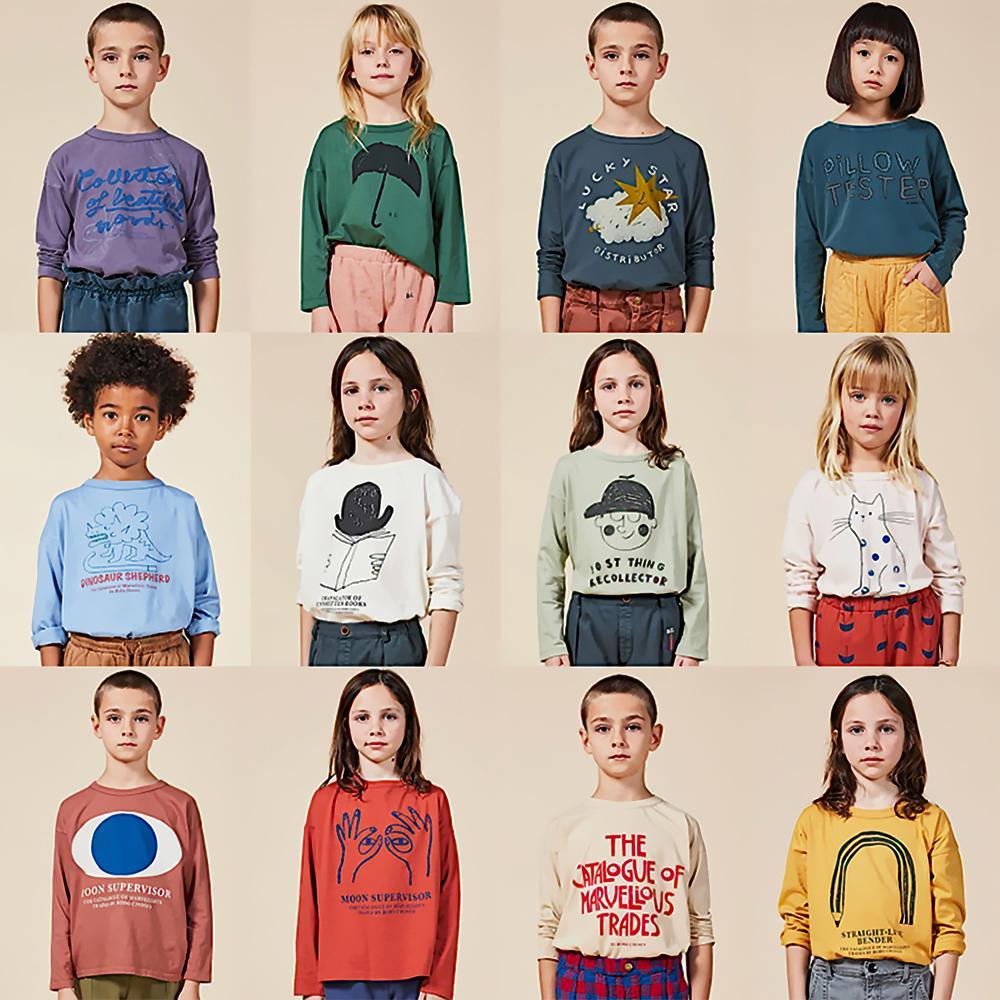 Ins 2020 Bobo crianças T-shirt das meninas Camisas do menino para o bebé T-shirt dos desenhos animados T Enfant Camiseta Roupa engraçada Crianças 1005