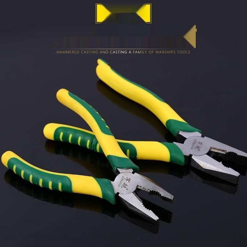 zckqE 8 pouces fil d'acier avec le travail d'économie poignée en caoutchouc 6 pouces pince plate de fils d'acier des pinces de vice électricien multi-fonctionnel