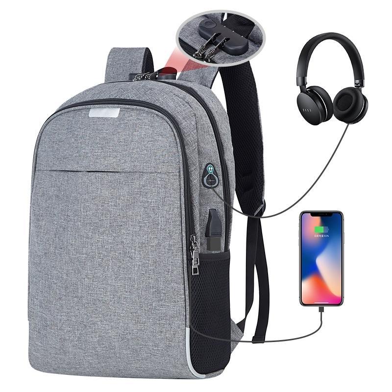 """OUBDAR 15,6"""" USB portable Sac à dos Sac à dos de charge Voyage Daypacks Homme Anti Theft Mochila Loisirs grande capacité Hommes Cartable LJ200928"""