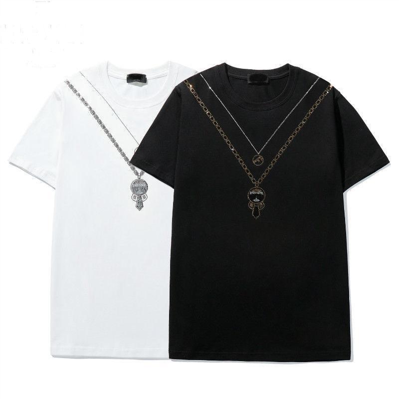 2021 Yeni Yaz Erkek Baskı T Gömlek Moda Karikatür Baskı T-Shirt Üst Erkekler Bayan Tasarımcı T Gömlek Rahat Pamuk Tee Top