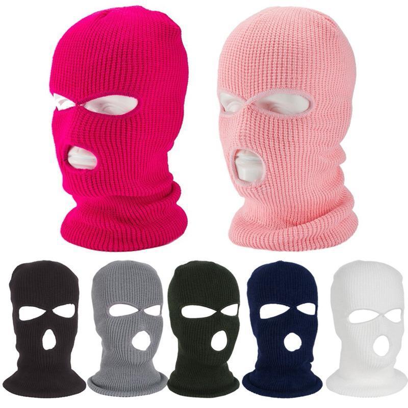 1pc hiver masque de visage masque de ski masque de ski hiver casquette Balaclava 3 trous designer pour visage masque jetableshalloween cosplay