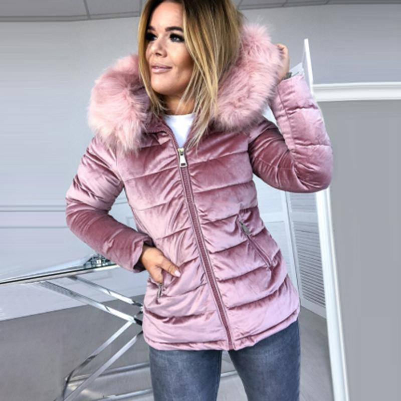 Umeko 2020 Parka invierno invierno abrigos de terciopelo algodón largo piel chaquetas con capucha gruesa abrigo de abrigo de invierno caliente.