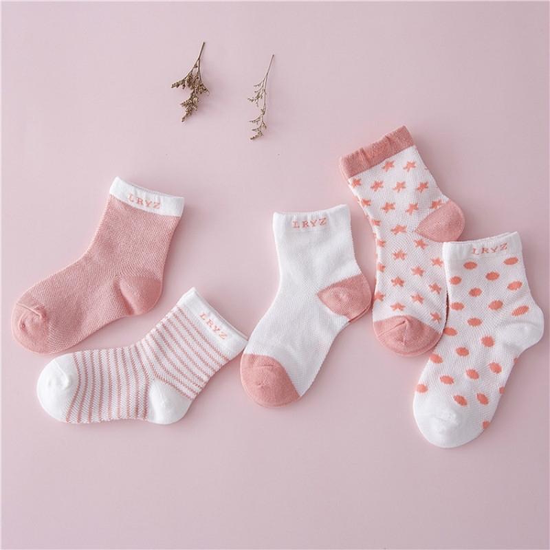 5 pairs Bebek Bebek Çorap Sonbahar Bebek Kız Çorap Pamuk Yenidoğan Karikatür Erkek Yürüyor Çorap Bebek Giysileri Aksesuarları Y201009