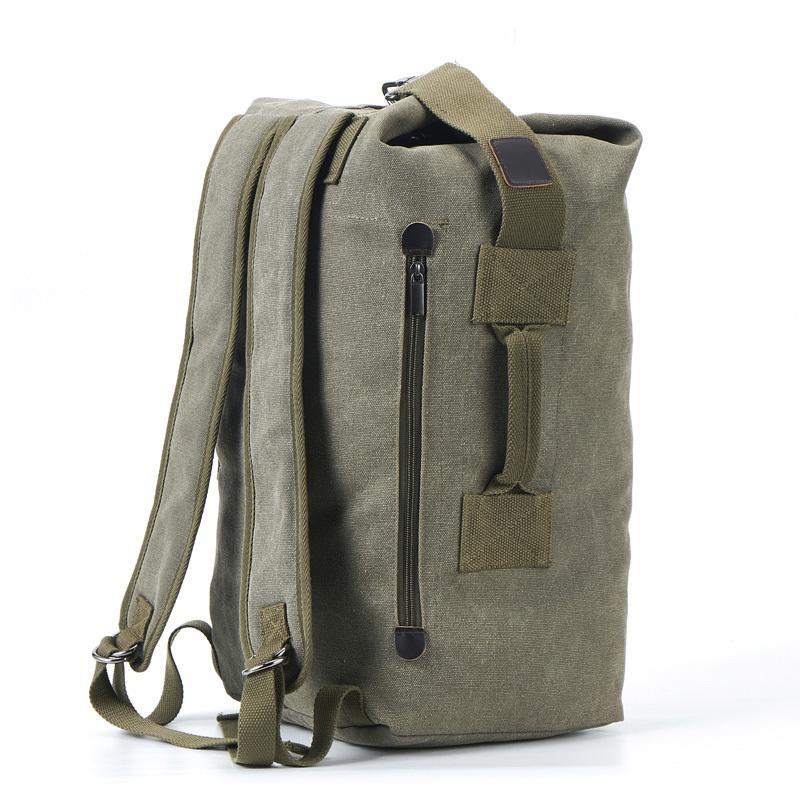 2019 New Large Capacity Rucksack Man Travel Bag Mountaineering Backpack Male Luggage Canvas Bucket Shoulder Bags Men Backpacks Q1221