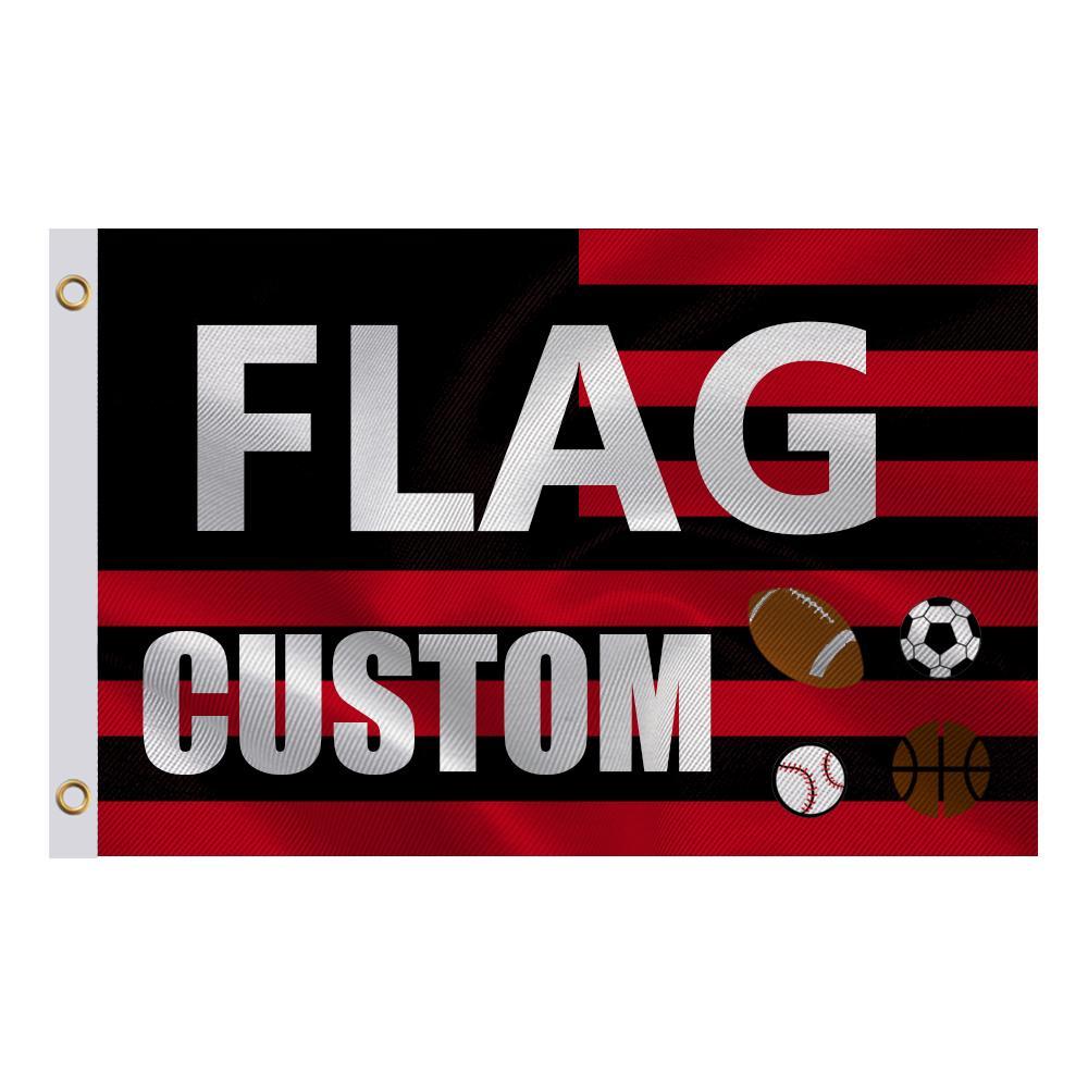 3x5 ft-Flagge Verwenden Sie Ihren personalisierten Bild Text oder Logo an benutzerdefinierte Geschenke, drucken Sie den Heißverkauf im Freien oder in Innenräumen