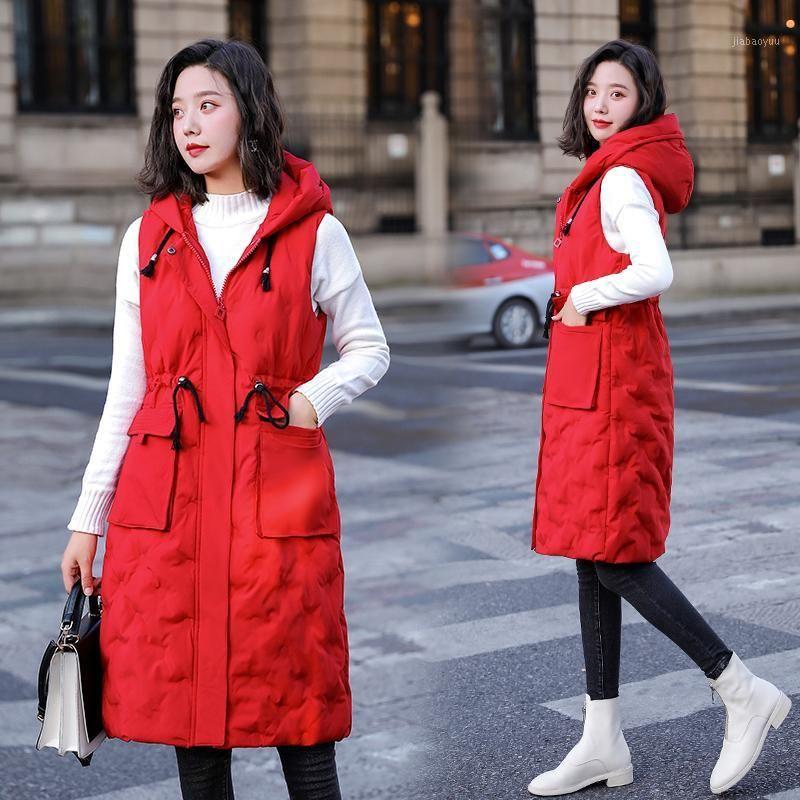 Chaleco de mujer más Tamaño M-5XL Chaleco para algodón de invierno acolchado largo chaleco Outwear Outwear Chalecos cálidos gruesos Chalecos para mujer ytnmyop1
