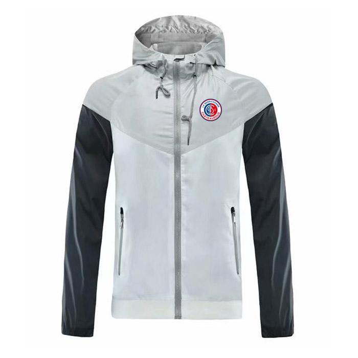 chateauroux rompevientos cremallera de la chaqueta con capucha de la chaqueta rompevientos fútbol Fútbol deporte capa cremallera completa chaquetas de los hombres