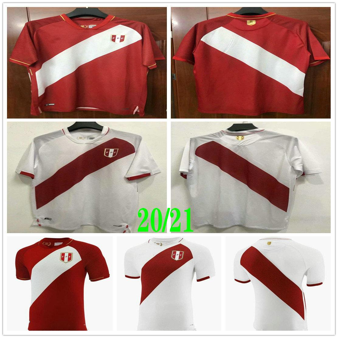 2021 2022 Peru Soccer Jerseys GUERRERO FARFAN CUEVA LAPADULA LORES Custom Perú camisetas de fútbol Home White Away Red Football Shirts
