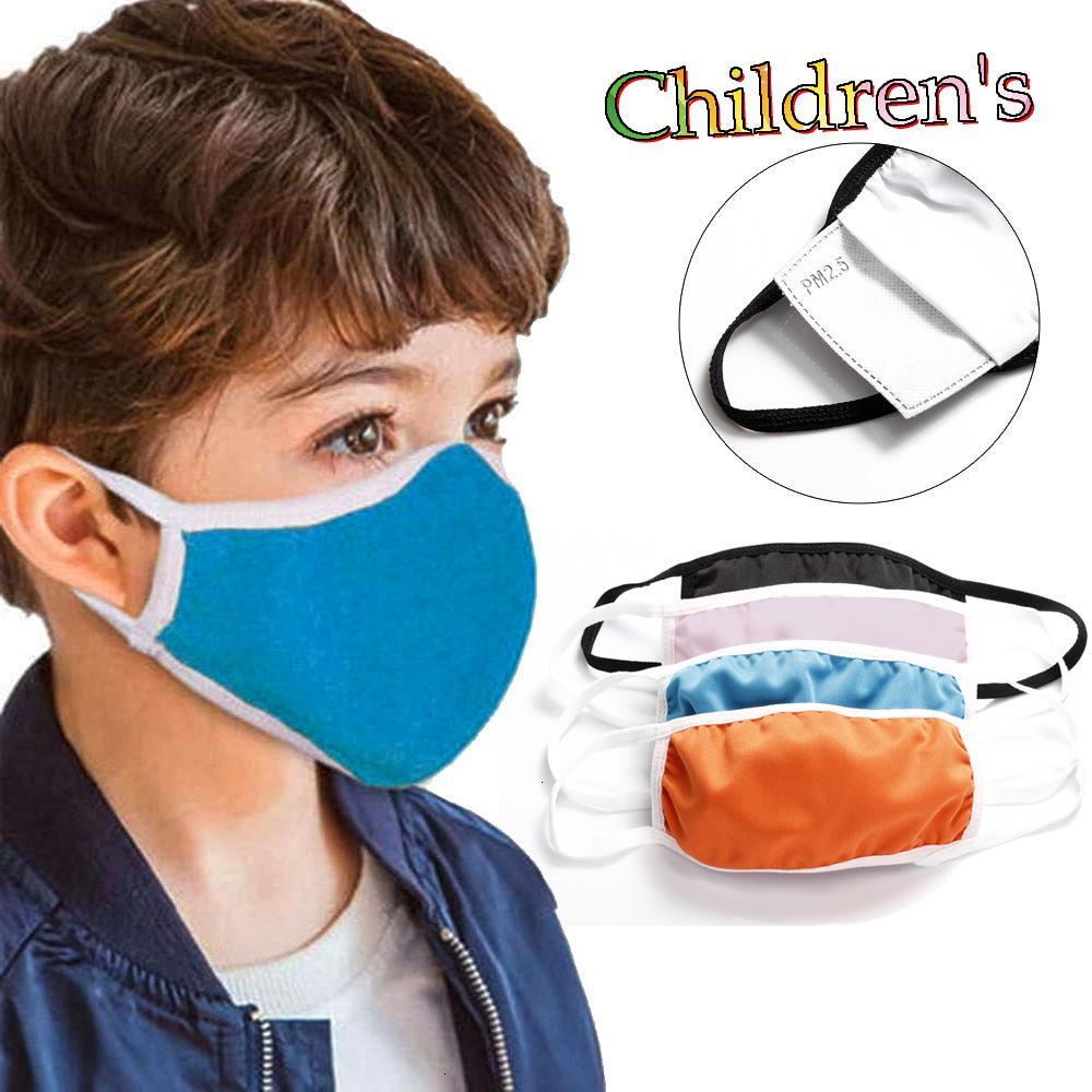 Diseñador mascarillas cubren niños máscaras de algodón niño inserto de filtro anti-niebla PM2.5 explosión transfronteriza a prueba de polvo rápido DHL libre envía
