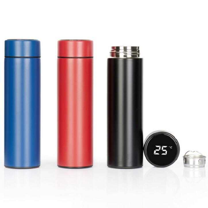 Coupes Tumbler Tasse intelligente Affichage de la température à vide Bouteille d'eau inoxydable café en acier bouilloire Thermo Cup avec écran LCD à écran tactile Coupe du cadeau YW23