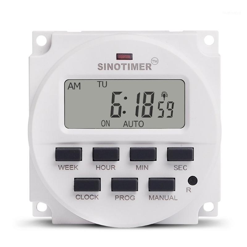 SINOTIMER 220V hebdomadaire 7 jours de commutateur de minuterie numérique programmable de 7 jours Contrôle de la minuterie pour appareils électriques 8 réglage marche / arrêt1