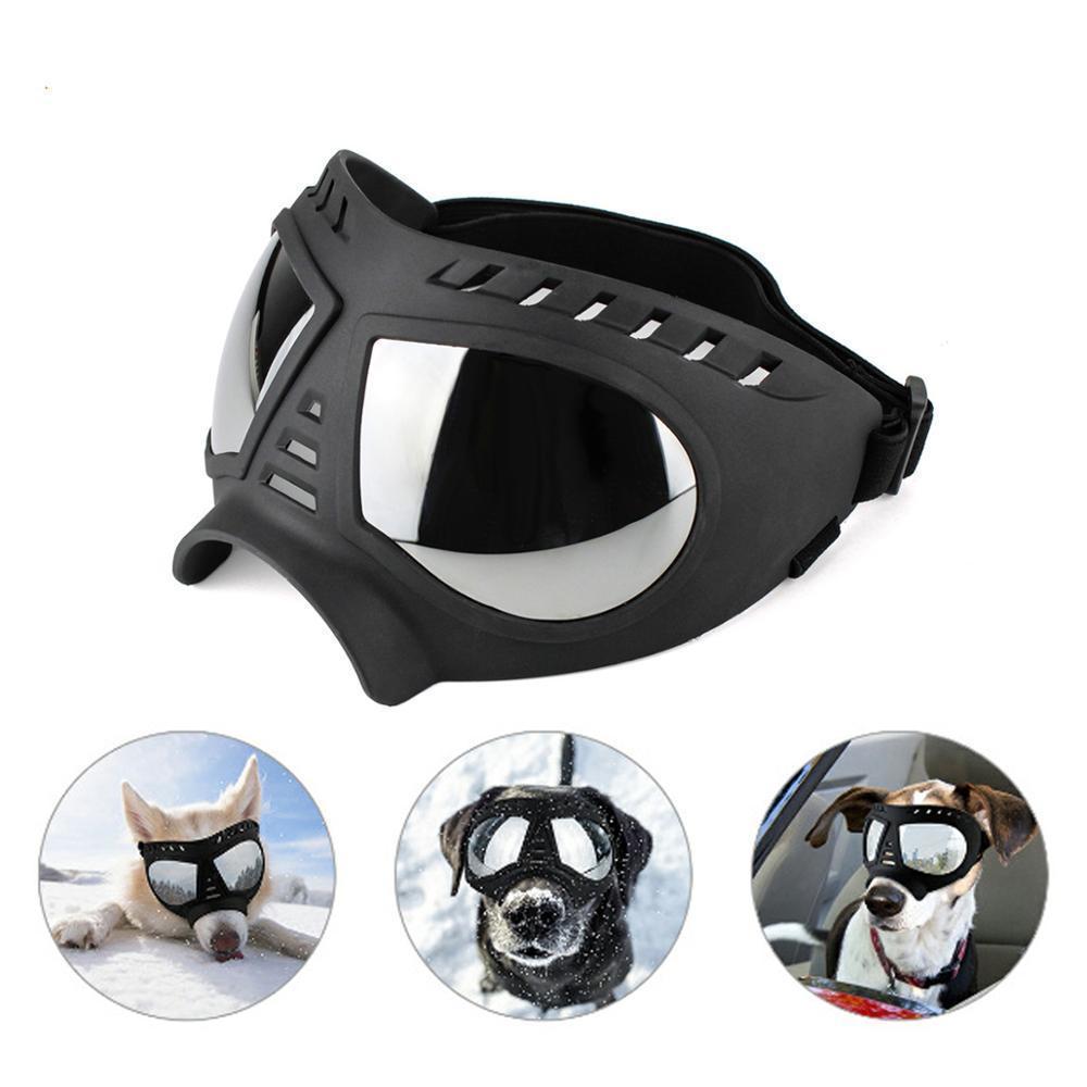 Lunettes de soleil Chien cool Protection UV Véglages à coupe-vent Pet Eye Pet Eype de Paysage Moyen Grand Dog Patinage Verres d'accès LJ200923