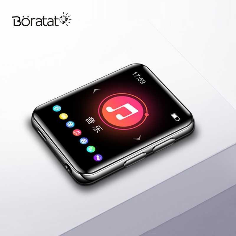 Dokunmatik Ekran Bluetooth MP3 Taşınabilir Çalar Ses Müzik Öğrenci FM Radyo Kaydedici Okuyucu
