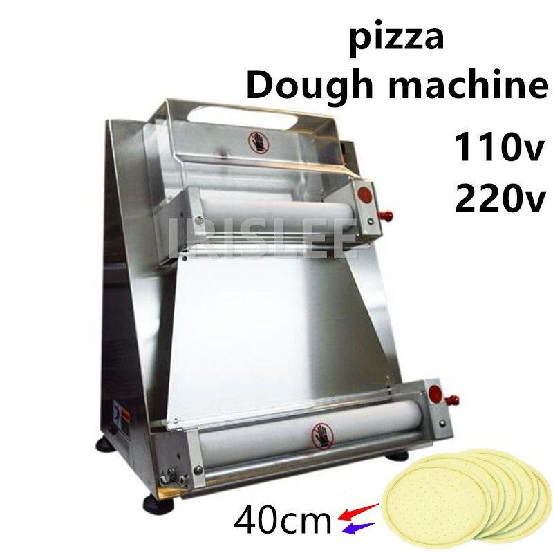 370W Elektrische Pizzatough-Walzen-Maschine Edelstahl MAX 12-Zoll-Pizzatough-Pressemaschine SHAPERER FOOD-Prozessor BZ-40
