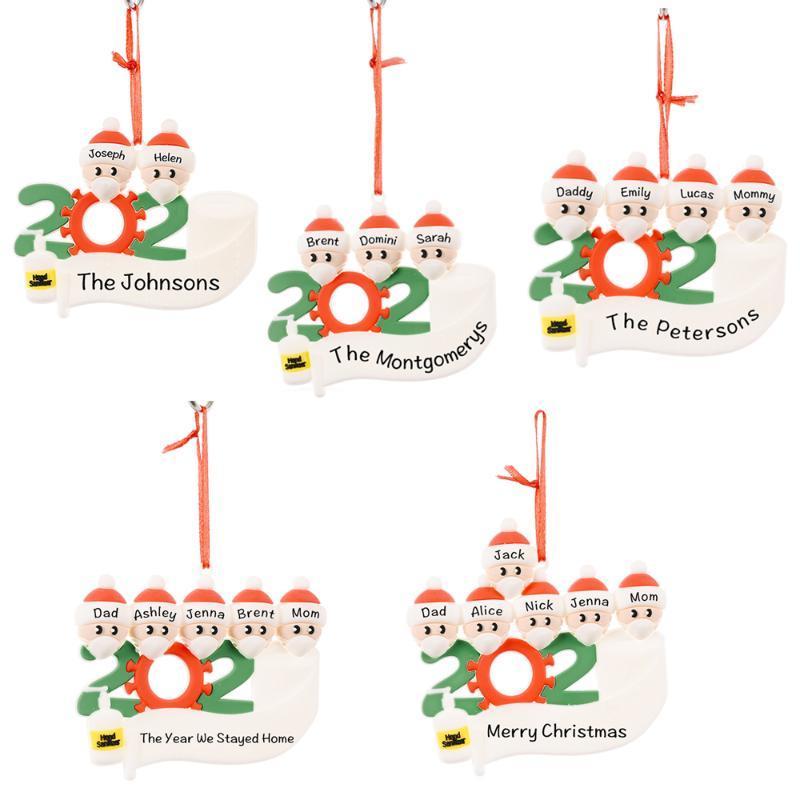 2020 Новогодние украшения Для дома Xmas Navidad Merry Christmas Tree Decor Подвеска падения украшения Санта-Клаус DIY принадлежности
