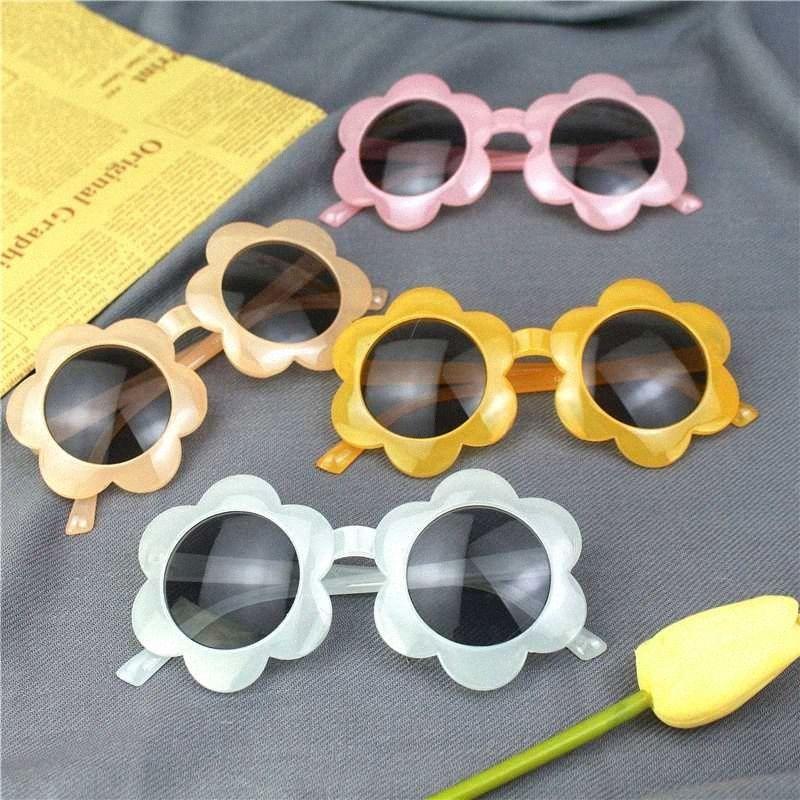 2020 Enfants Vintage Lunettes de soleil pour enfants Lunettes de soleil ronde Fleur Gafas Bébé Enfants UV400 Lunettes de soleil Sport Filles Garçons X1zG #
