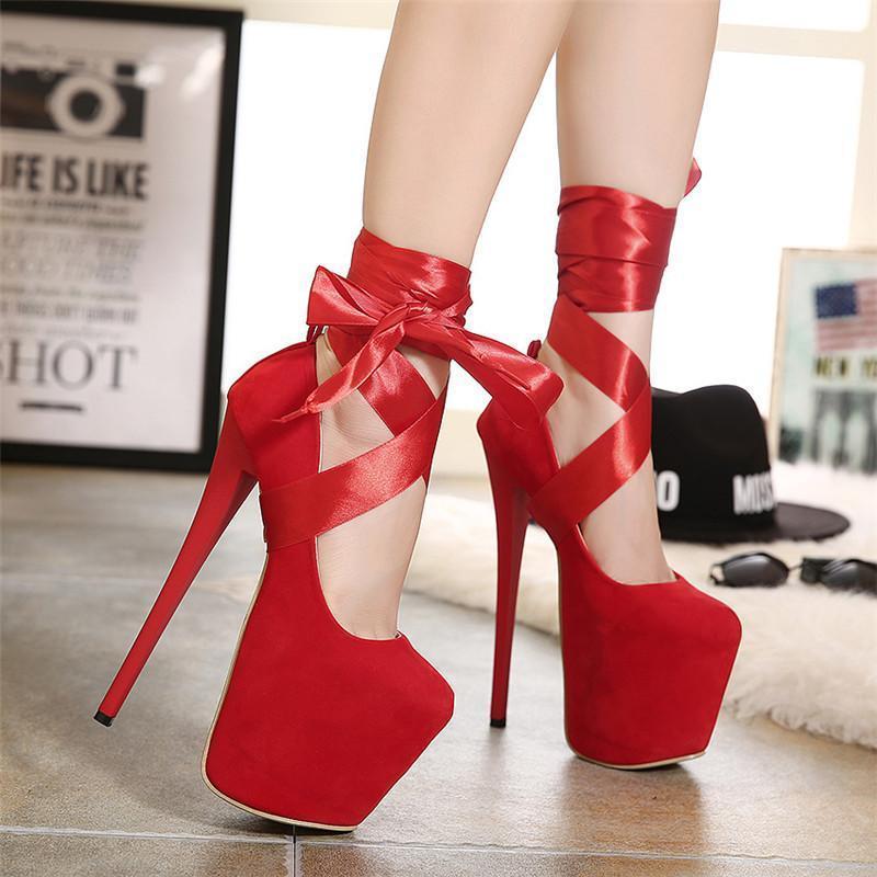2019 frauen sommer 19 cm high heels stricksandalen gurt stiletto pumpen heels rot schwarz koreanisch hohe stripper shoes1