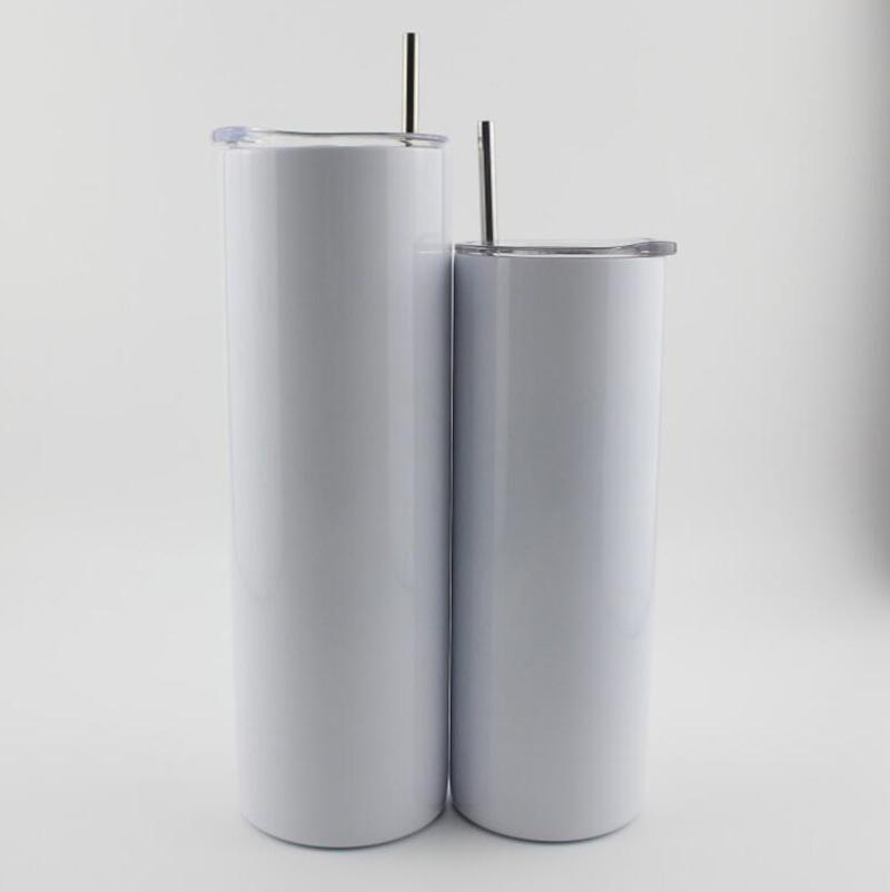 30oz sublimartion tumblers مستقيم مع غطاء القيعان المطاطية الفولاذ الصلب بهلوان القهوة القدح الفراغات التسامي زجاجة المياه