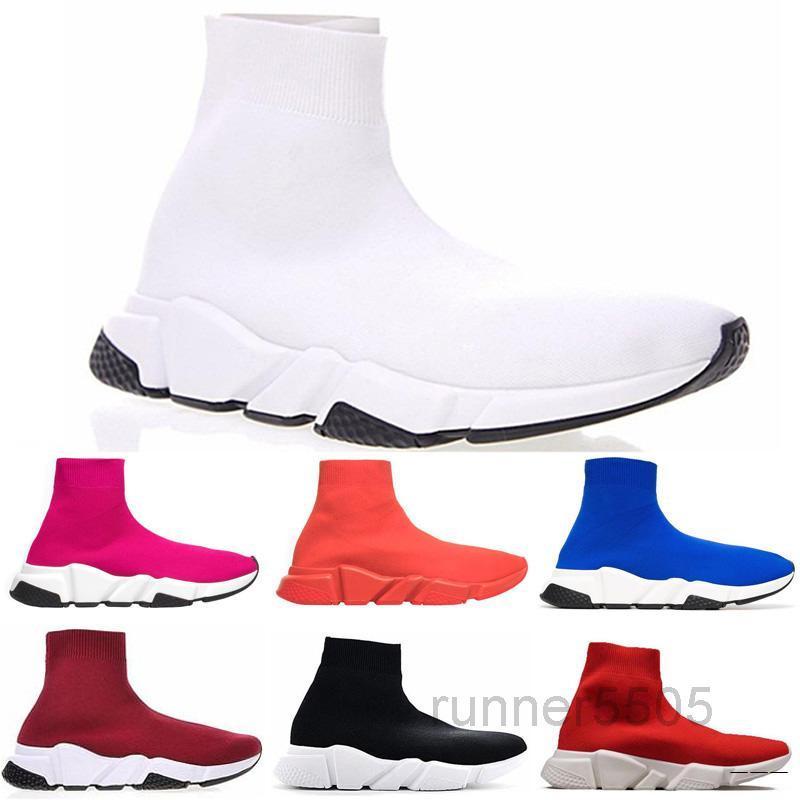 Designer Schuh Triple Sneakers Geschwindigkeit Trainer Schwarz Rot Gypsophila Triple Black Fashion Flache Socken Plattform Luxus Freizeitschuhe Geschwindigkeit SDF5
