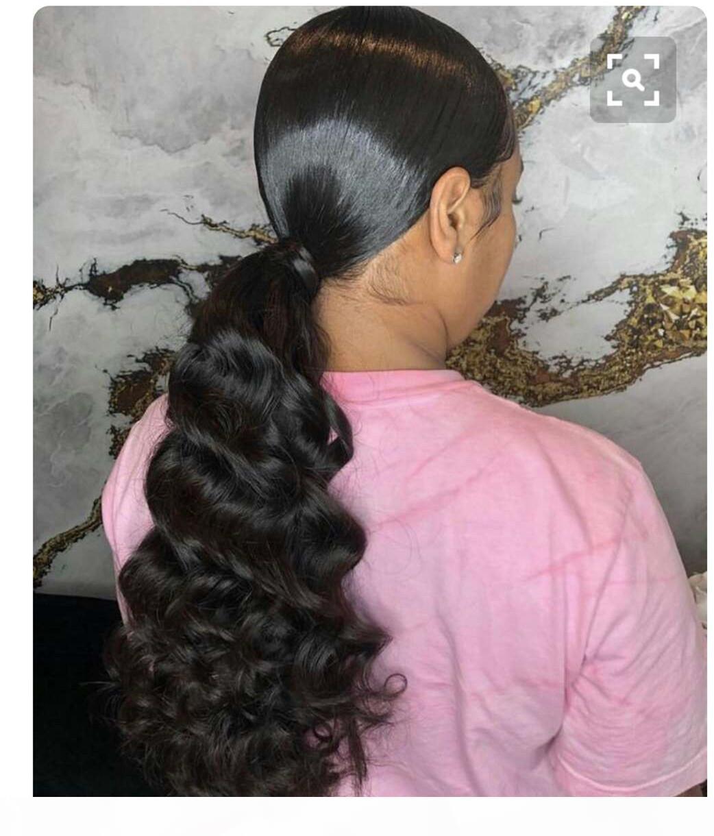 100% real Remy cabelo humano rabo de cavalo # 1b cor natural indiano virgem não processada clipe em corporal corporal extensões 140g