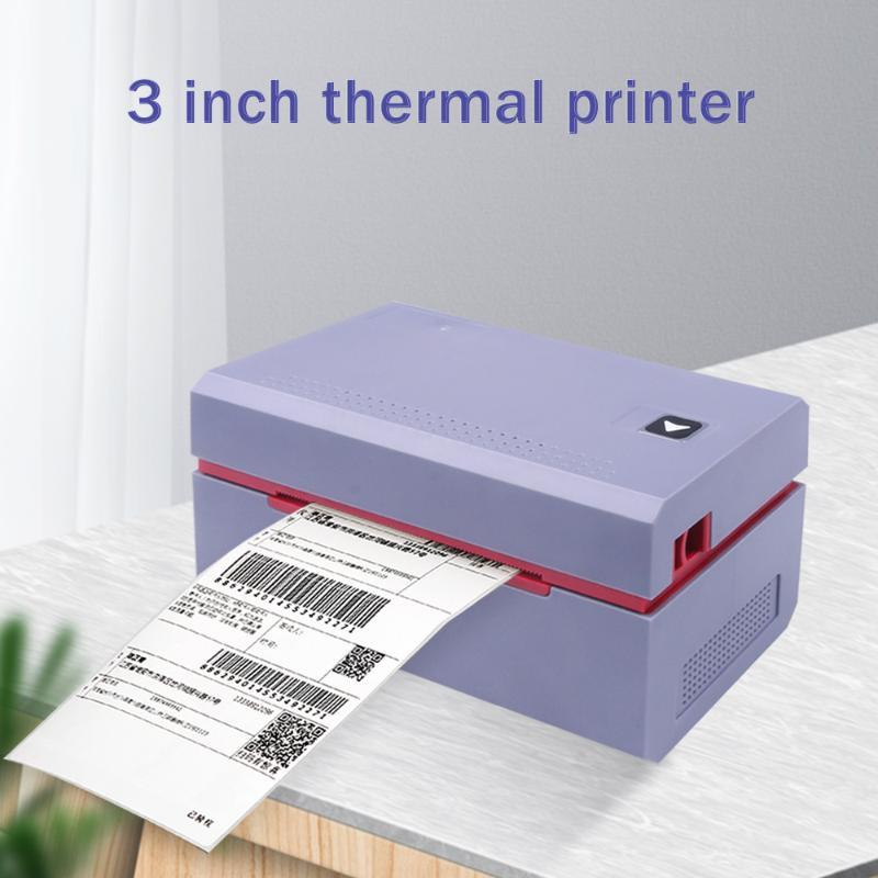 Thermal Label Printer Receipt Express Electronic Waybill Printer Product Barcode QR Code Sticker Label Mini USB 3 Inch