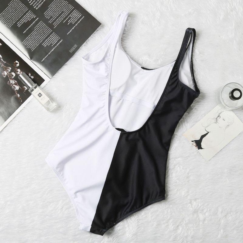 Black White Colors Styles Fashion Swimwear Bikini Set For Women Girl Swimsuit with Pad Bandage two-Piece Sexy Bathing Suit